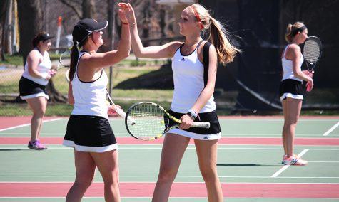 Men's and women's tennis teams rolling into April