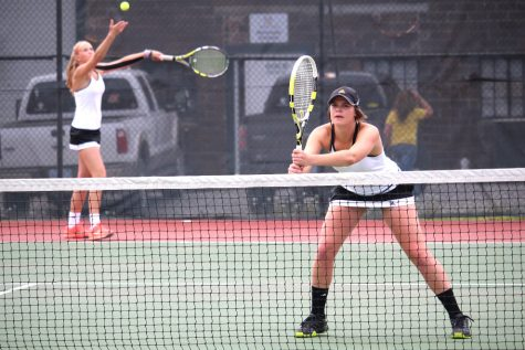 Women's tennis team hosts two matches in one day