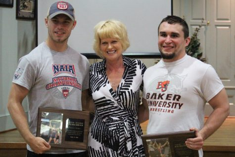 Wrestling reception honors national champions