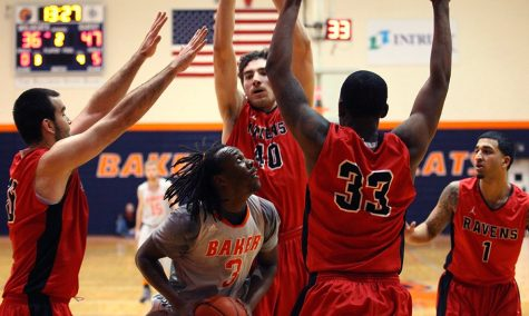 Men's basketball falls to Benedictine, C-SC