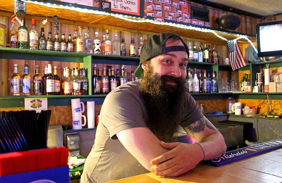 McCoy Nelson, the main bartender at the Salt Mine, graduated from Baker in 2006. Image by Chad Phillips.