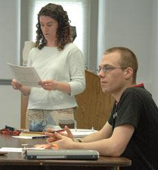Placement exam given at BU