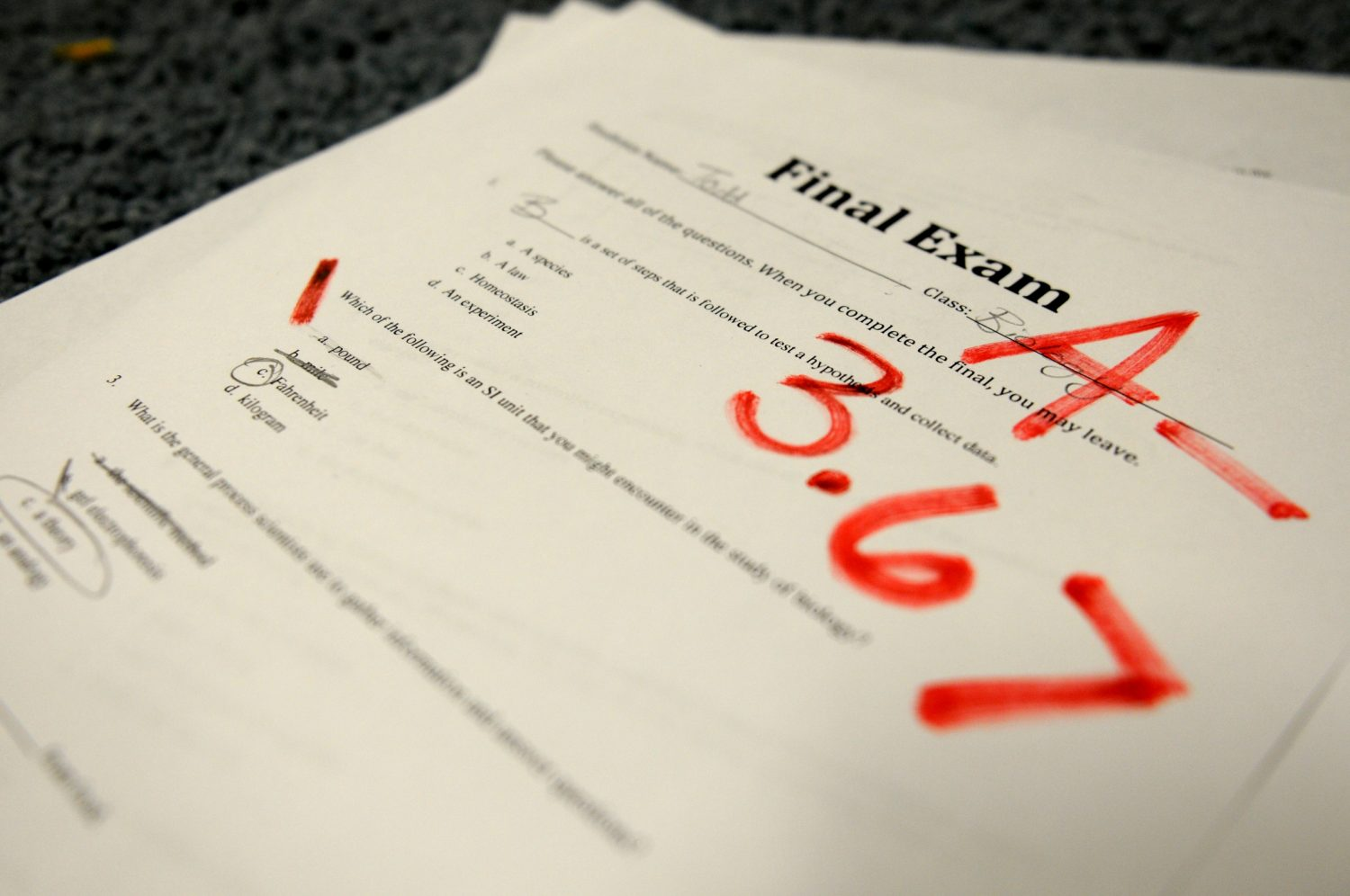 Proposed grading scale passes