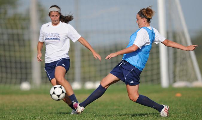 Women's soccer team defeats John Brown