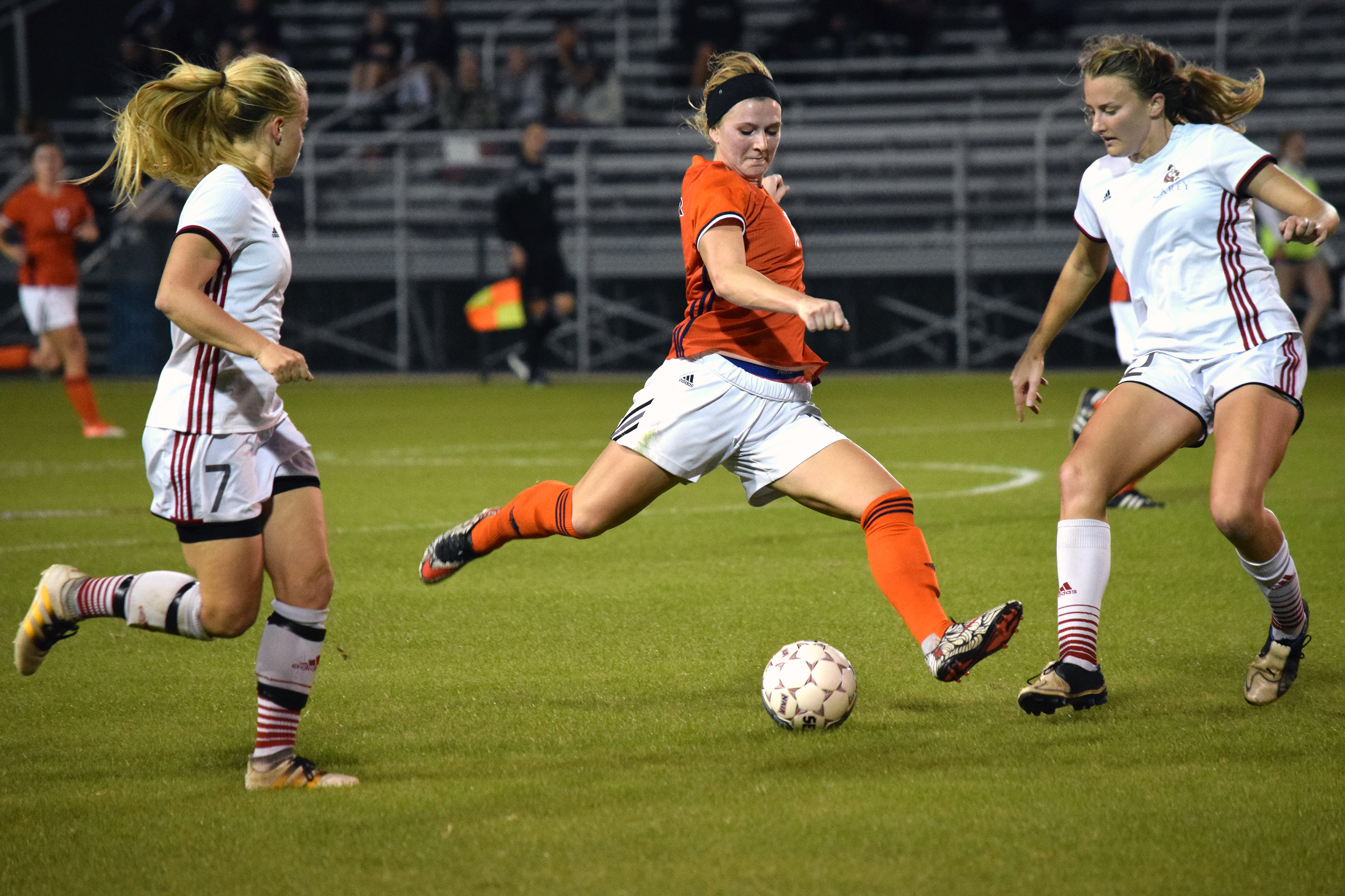 Senior Krista Hooper led the offensive attack for the Wildcats on Monday with five shots in Baker's 2-1 upset over No. 4 William Carey. Courtesy of Randy Speer