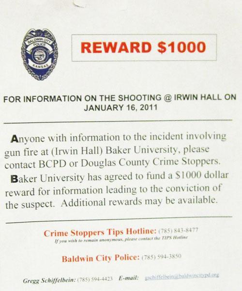 BU offering reward for information on Irwin gunman