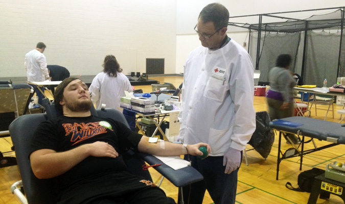 Blood drive collects 19 pints