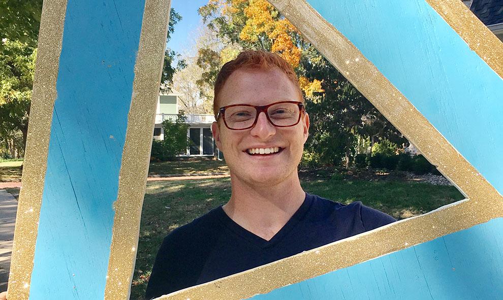 Senior Luke Miltz.
