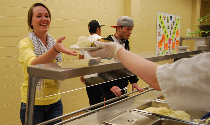 Sieber encourages students to go meatless