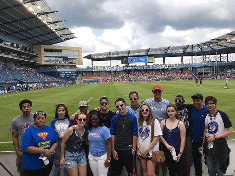 NERDs attend a Sporting Kansas City soccer game at Children's Mercy Park June 3.