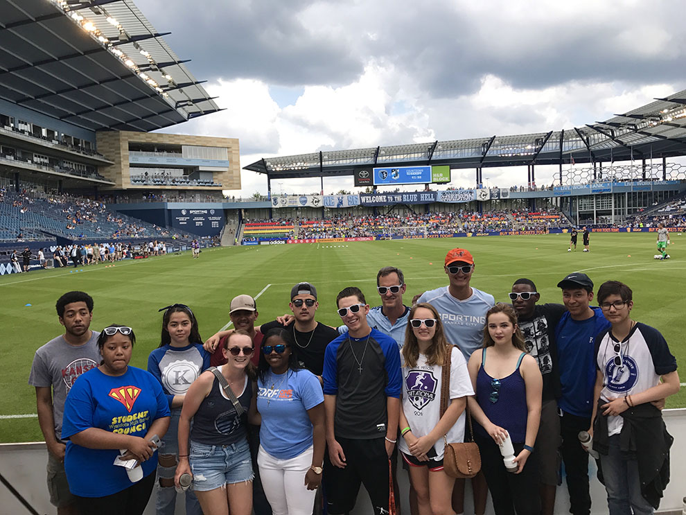 NERDs+attend+a+Sporting+Kansas+City+soccer+game+at+Children%27s+Mercy+Park+June+3.