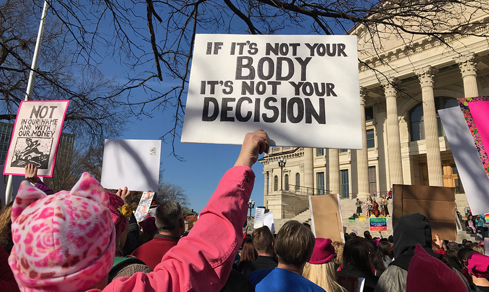 Following the inauguration of President Donald Trump, a few Baker students attended the local Women's March in Topeka and protested alongside more than 3,000 other participants.