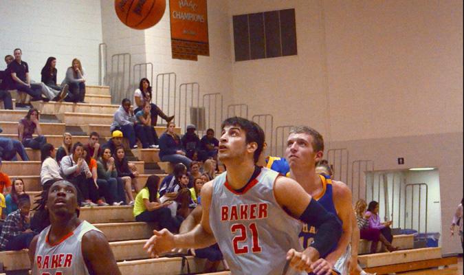 Men's basketball team sweeps Baker Classic
