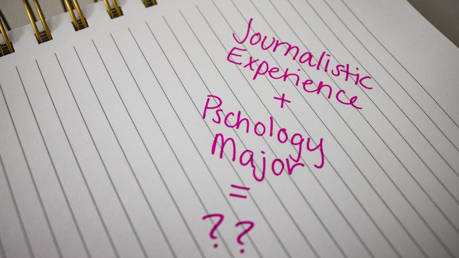 Psychology major benefits from journalistic experience