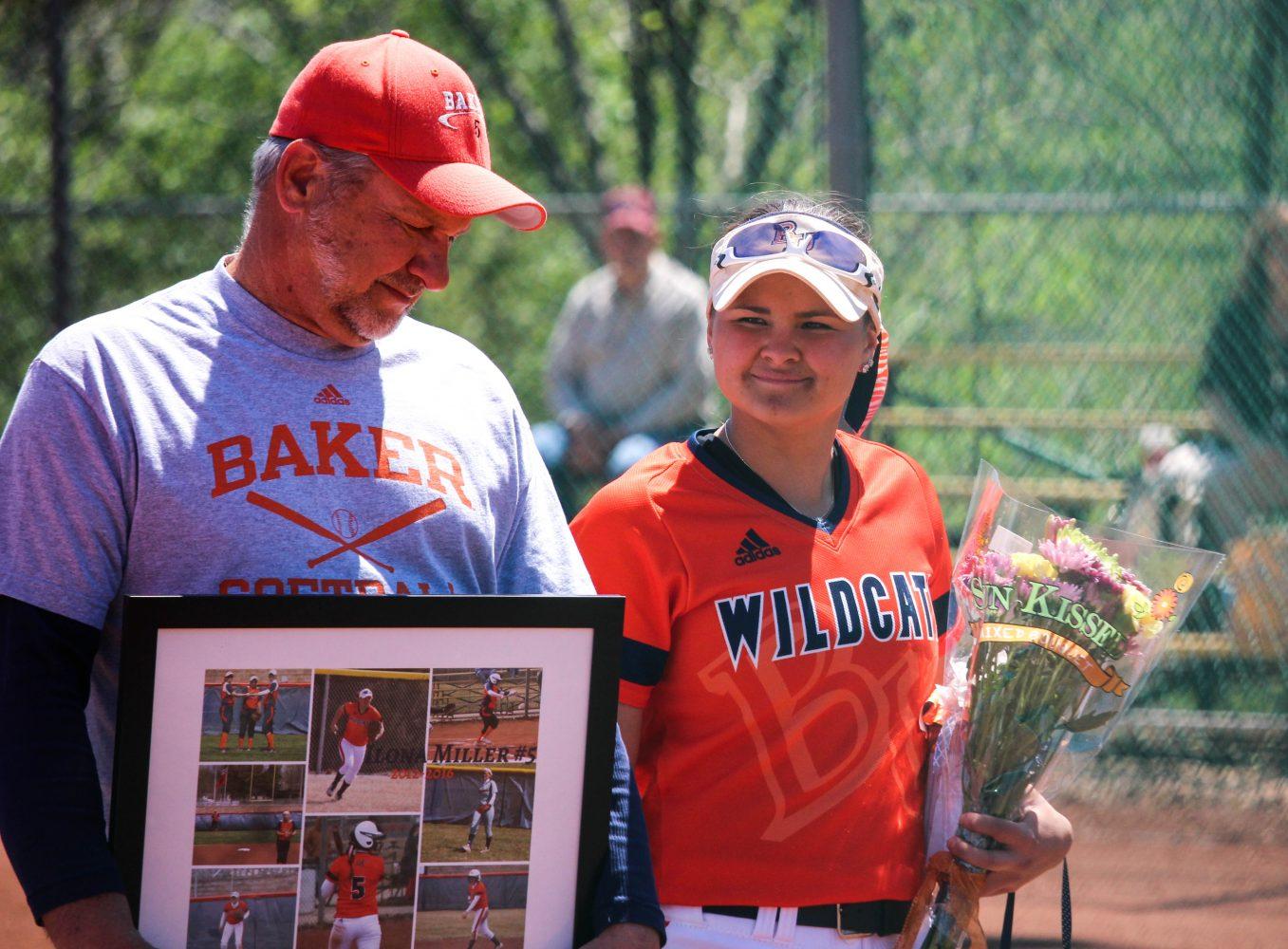 Softball falls to Benedictine on senior day