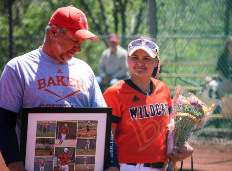 Softball falls to Benedictine on senior day