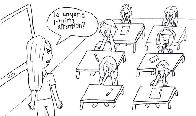 Cellphones+create+classroom+distraction