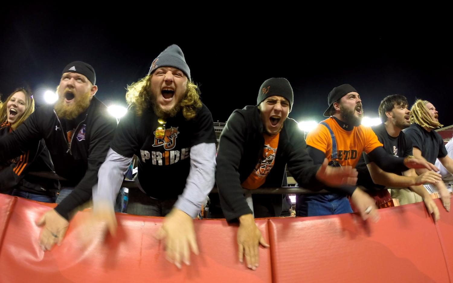 Fans cheer on the Baker football team at Arrowhead Stadium on Oct. 11, 2014, during the NAIA Gridiron Challenge. The Wildcats defeated rival Benedictine 27-21 and improved to a perfect 6-0 record on the season, ensuring a winning season for the eighth consecutive year. Many people think going to a small school limits you, but this game at Arrowhead is just one example of how Baker excels at providing amazing opportunities that you never think could happen.
