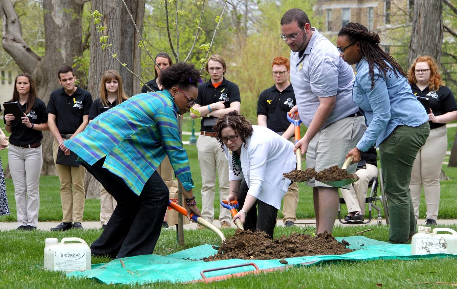 Baker faculty shovel soil during a memorial tree planting ceremony after a chapel service on April 23 in memory of Sione Maumau who passed away the previous semester. Documenting this event, as well anything else surrounding this tragedy, was one of the hardest things I've had to do in my career as a photographer. Nobody wants to be the one to photograph something like this, but at the same time I felt like it was my duty to showcase how the Baker community came together and came back stronger than ever before because of it.