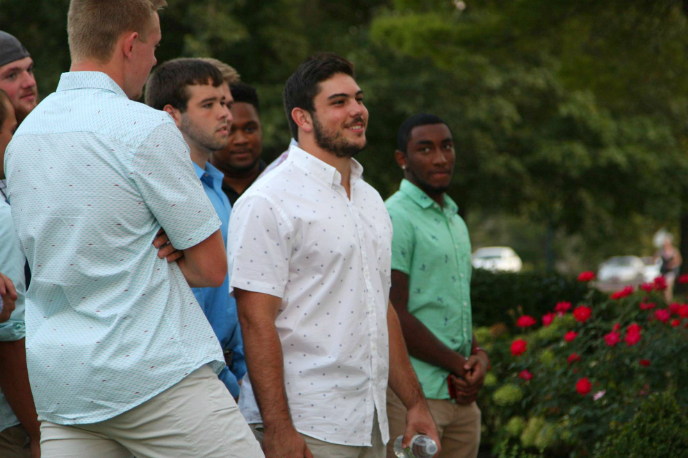 Delta Tau Delta freshman,_____ , was put on the spot when he had to come up with a pickup line to impress the lades of Alpha Chi Omega.