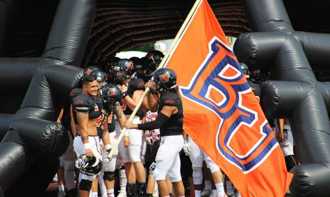 BU soars past Eagles in 63-17 victory