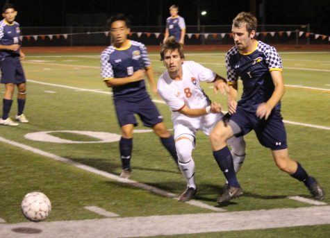 Men's soccer loses first conference match