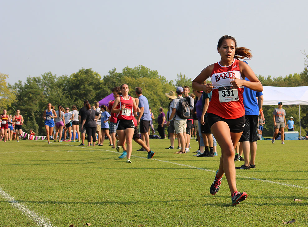 Sophomore Janeane Hernandez contributes to the women's team second place finish. Hernandez was the fourth runner on the team and finished in 16:20.