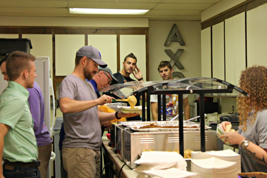 Guests built their own tacos in the Alpha Chi Omegas kitchen.