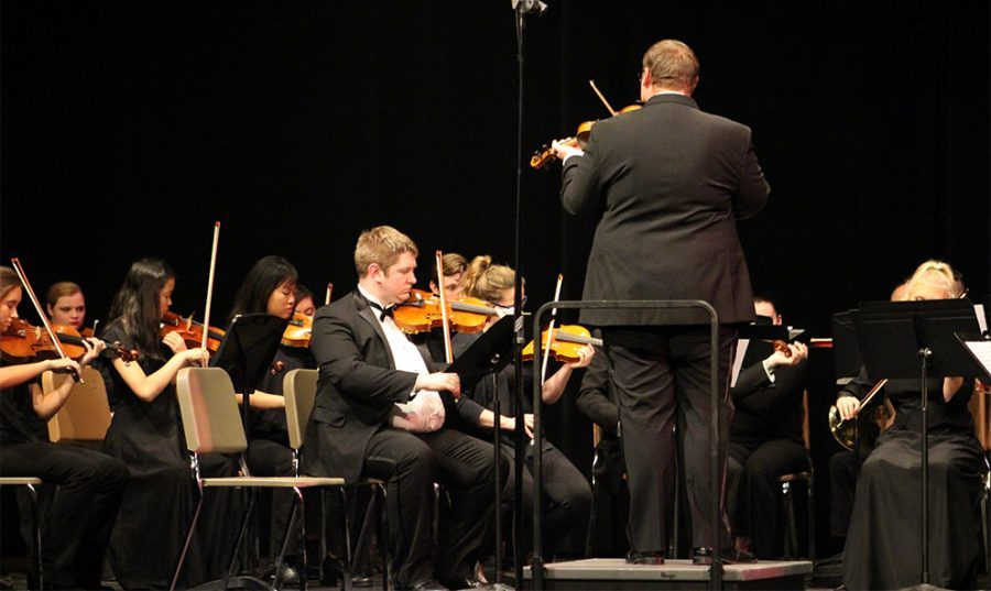 The orchestra performed Nov. 14 at 7:30 p.m in Rice Auditorium. They played The Overture to Lisola Disbitata by the composer Haydn. The piece refers to the deserted island and was in an opera.