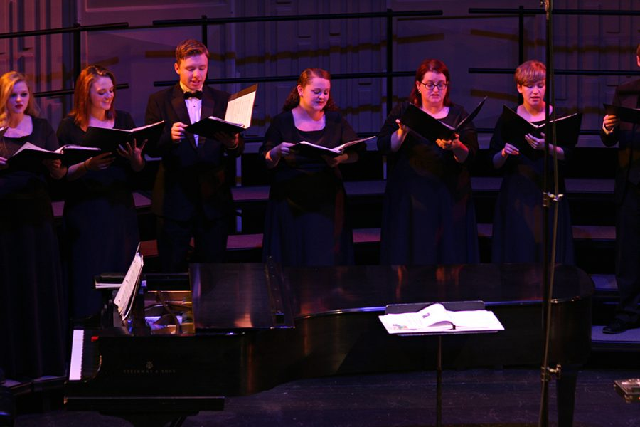Baker University vocal ensembles that performed were Concert Choir, Chamber Singers, and University Community Choir. Instrumental ensembles were Brass Ensemble, Orchestra, and Trombone Choir.