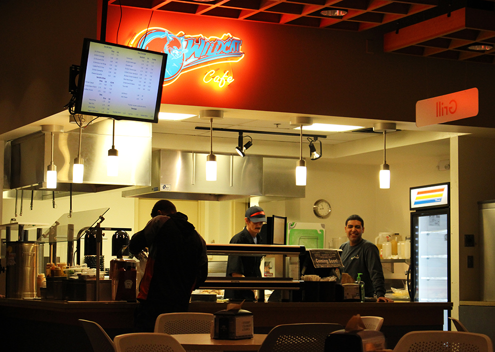 The Late Night Grille has numerous menu options to further accommodate students. Flex dollars, cash, or credit can be used to purchase Grille items.