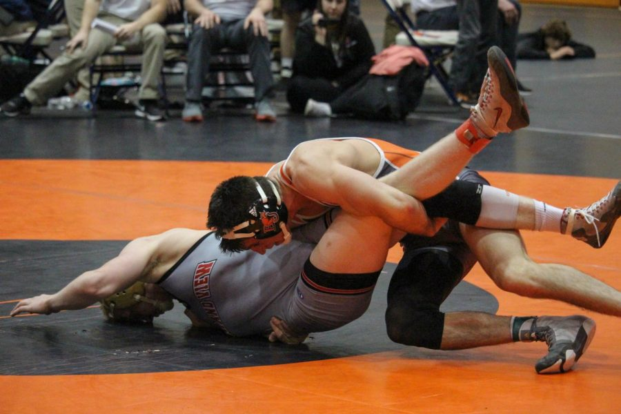 Sophomore Lucas Lovvorn took home the national championship in the 174-pound bracket after going a perfect 5-0 in the 2018 NAIA Wrestling National Tournament.