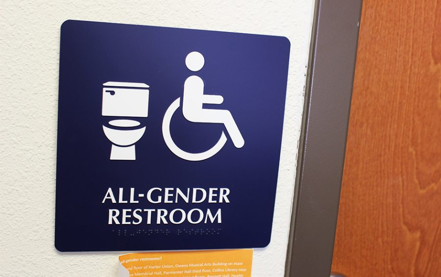 Baker has introduced all-gender restrooms across campus. This restroom is located in the New Living Center on the first floor and is available for all genders to use.