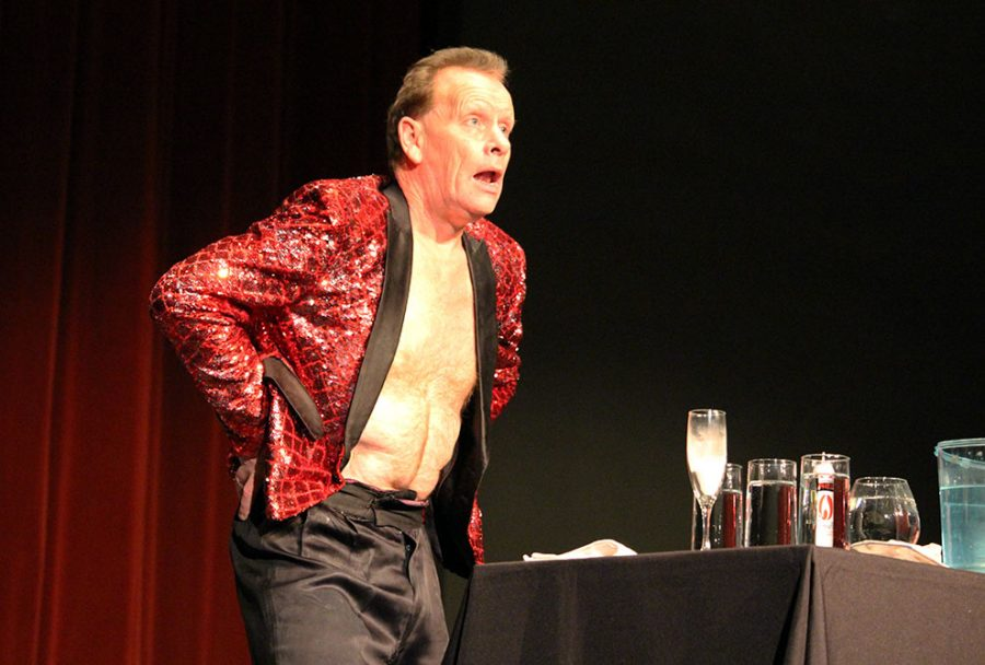 Student Activities Council hosted The Professional Regurgitator Stevie Starr on Feb. 21 at Rice Auditorium. Starr performed on Britains Got Talent in 2010 and finished in fourth place on Americas Got Talent in 2015. Starr regurgitated items such as nails, goldfish and a billiard ball.