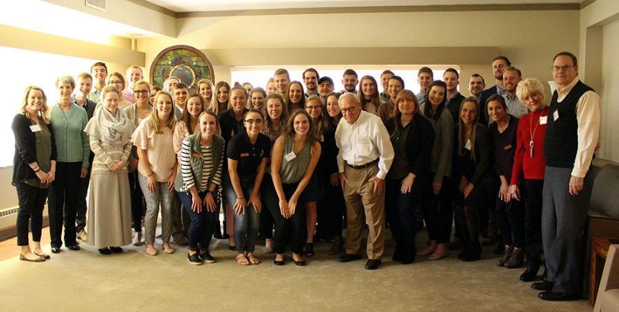 The ParMentors organization celebrated their 30 year reunion on April 15. Former Baker University President Dan Lambert attended the meeting in honor of his wife Carolyn Lambert, who started ParMentors.