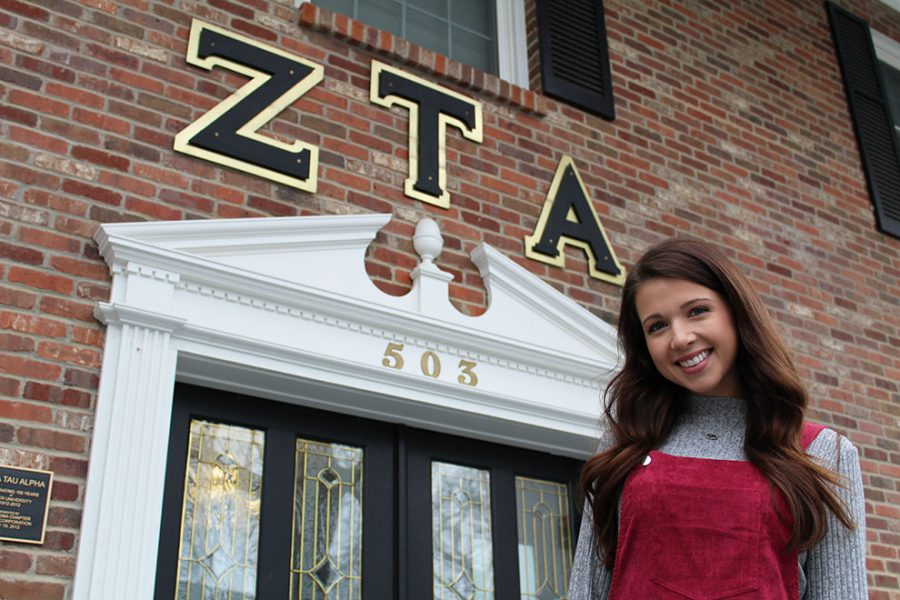 Senior Miranda Lindmark is the first member of Zeta Tau Alpha from the Sigma chapter to receive this position within the organization.