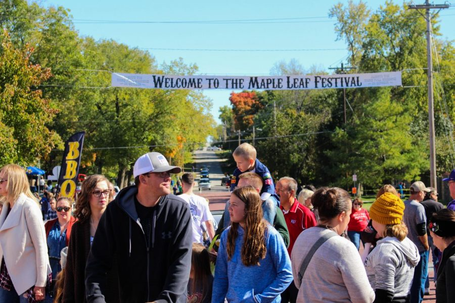 Maple Leaf Festival provides vendors the opportunity to sell their products and for companies to make connections with locals. The yearly festival has activities for the kids such as petting zoo and vendors for parents.