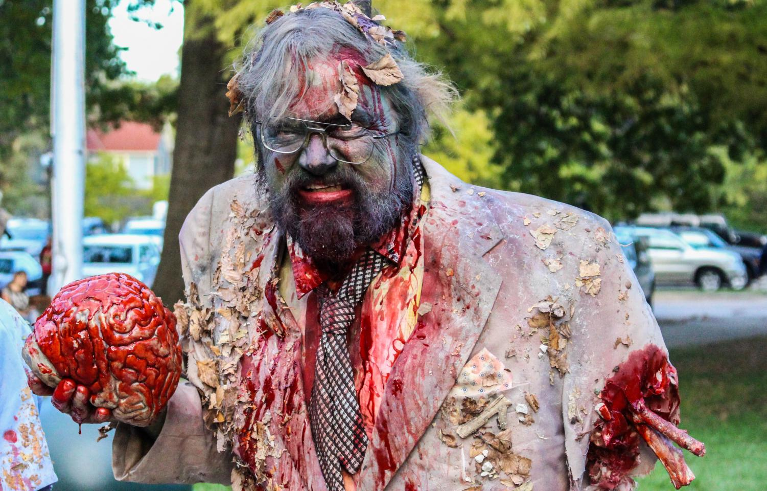 David+Edwards+growls+at+the+Zombie+Walk+in+Lawrence%2C+Kansas+on+Oct.+18.+This+was+the+12th+annual+Zombie+Walk+in+Lawrence.
