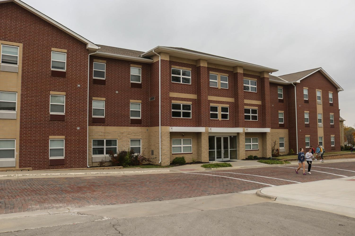 The New Living Center is one of three resident halls on the Baldwin City Campus.
