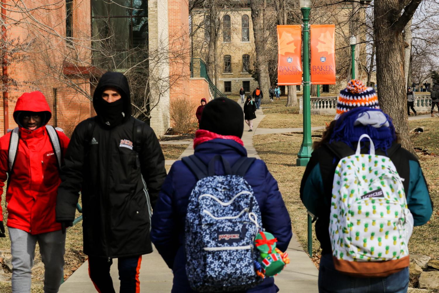 Students brought out every coat, hat and pair of gloves they could find in order to keep warm throughout the polar vortex that hit the Midwest.