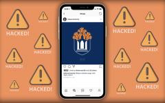 University Instagram account hacked