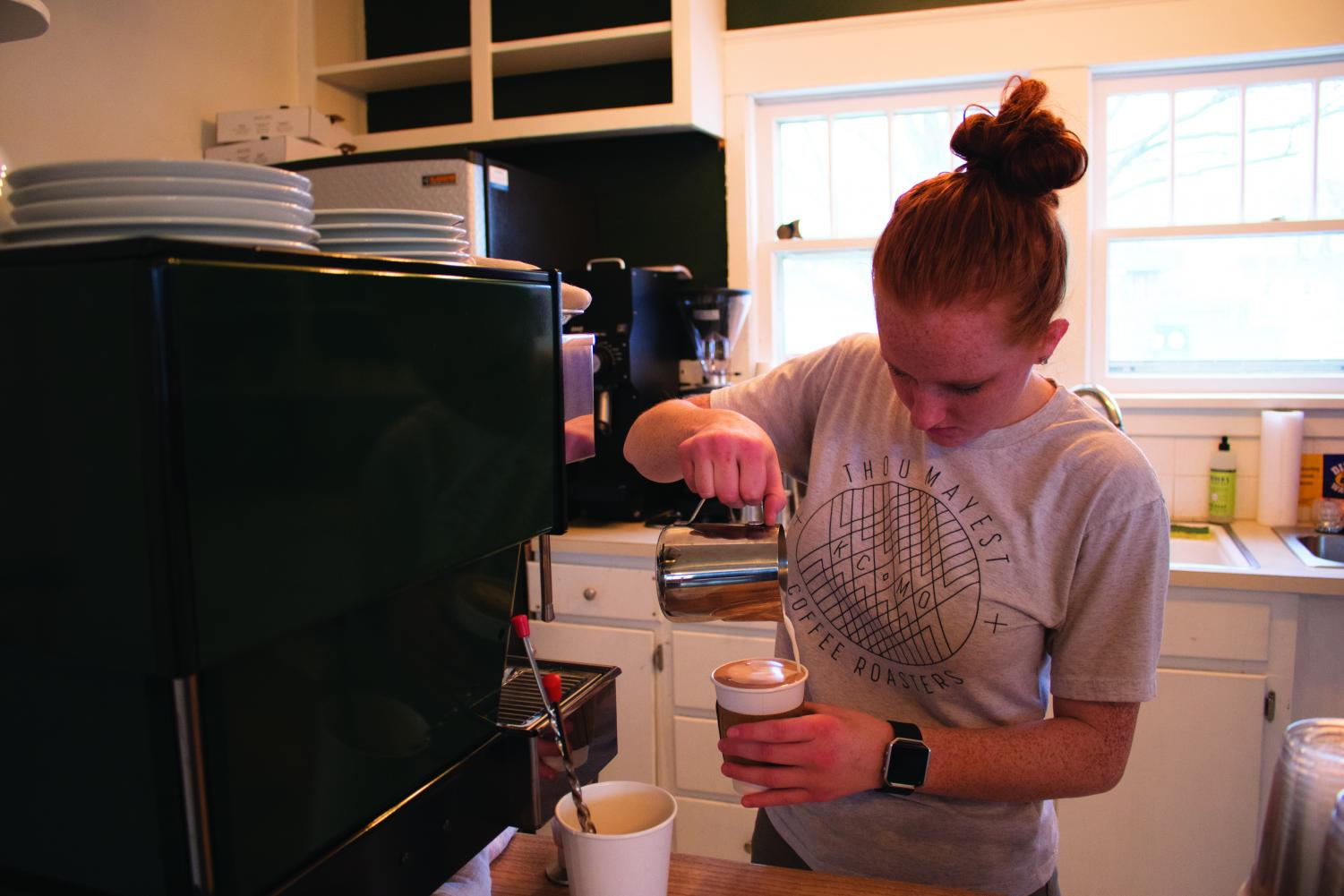 133 Coffee opened next to Cranberry Market at 106 6th Street on Feb. 16. The owners hope that students and members of the community are able to use their new coffee shop as a place to gather over coffee.