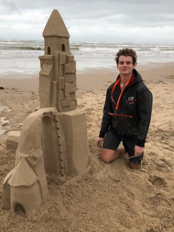 Freshman Max Hovorka has been building castles in South Padre Island, Texas since he was 6- years old. Hovorka teaches others the art during the summer.