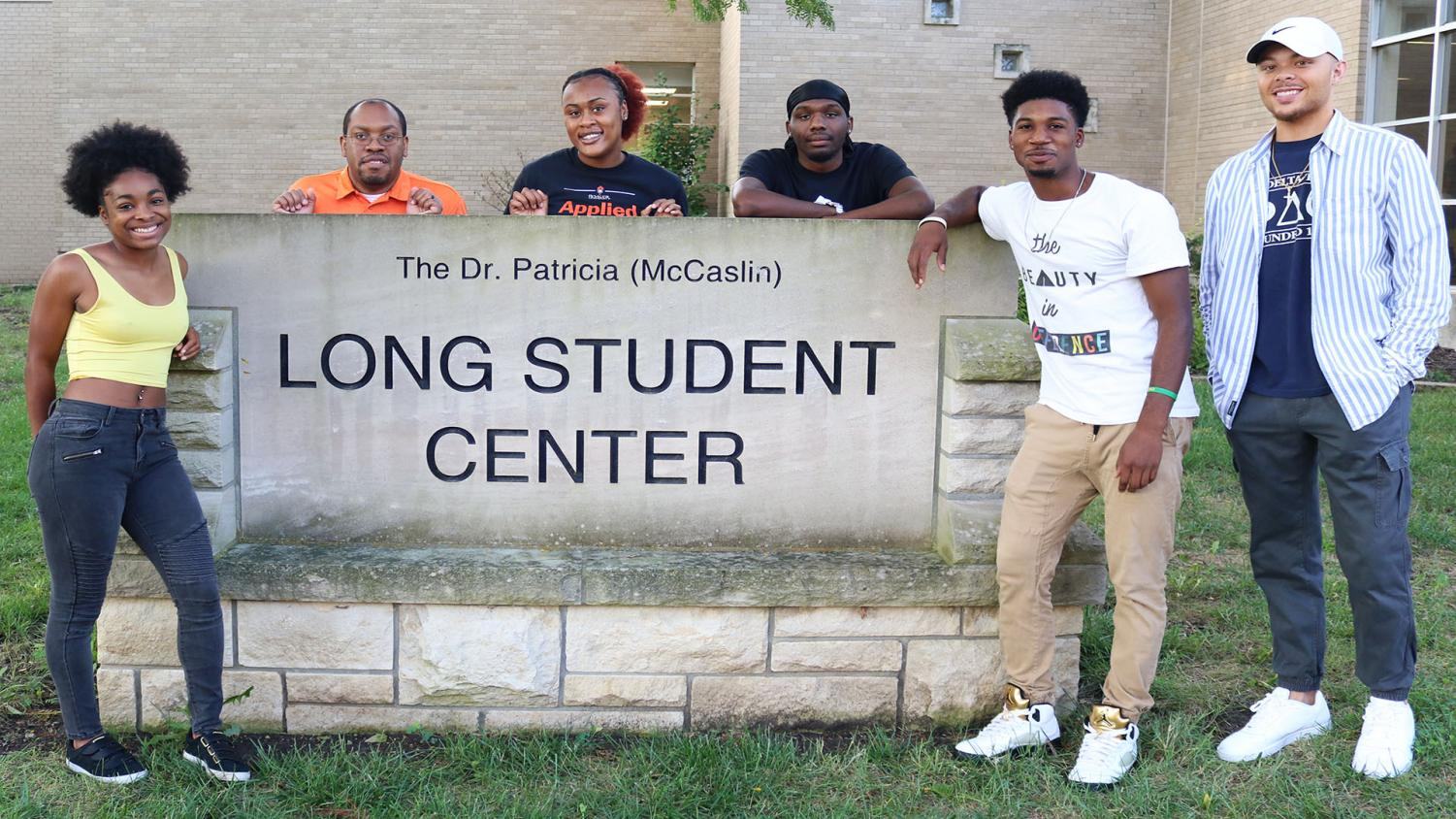 (Left to Right) President and senior Myan Elrington, Coordinator of Inclusion and Wellness Paul Ladipo, junior Secretary Daisey Ewansiha, Public Relations Nico Taylor, Treasurer Fabien Franck-Love and Vice President Grant Boehm represent the 2019-20 Mungano organization. Mungano hosts events with other organization on campus as well as sport teams.