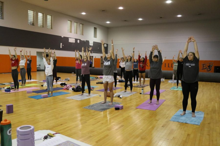 Zeta Tau Alpha holds events throughout the week for breast cancer awareness and support. On Oct. 22 in Mabee gymnasium ZTA hosts yoga instructed by Lora Rimmer.
