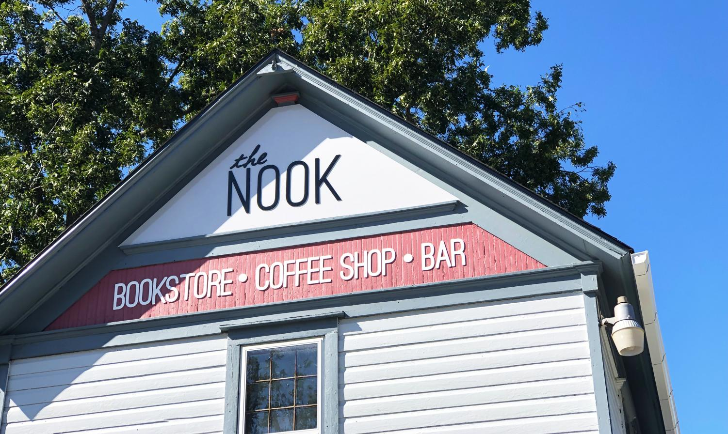 The Nook is located on the corner of 8th St. and Grove St. in downtown Baldwin City.