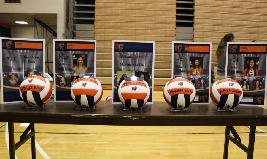 Volleyball drops series 0-3 to Evangel University on Senior night