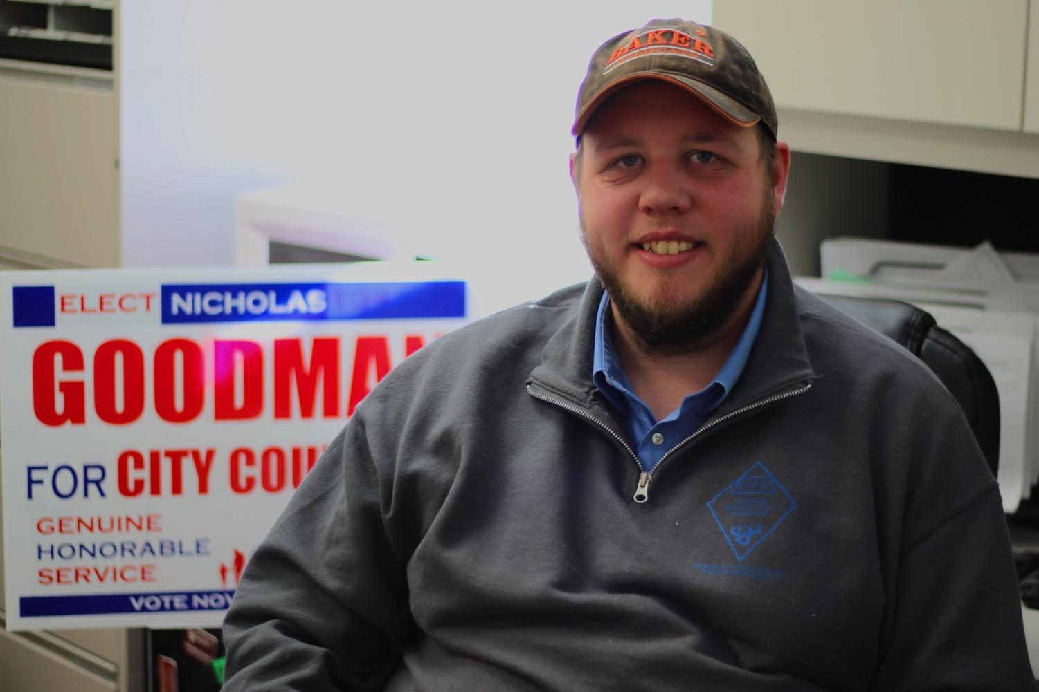 Director of Residence Life and Conference Services Nicholas Goodman runs for city council. The results of the elections on Nov. 5 show Goodman with 122 votes placing him in last place.