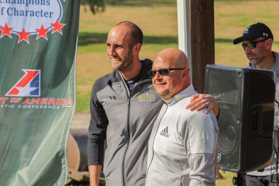 Head Cross Country coach Tim Byers received the Heart Cross Country Coach of the year award at the conference meet. Byers stepped into the role of head coach in 2014.
