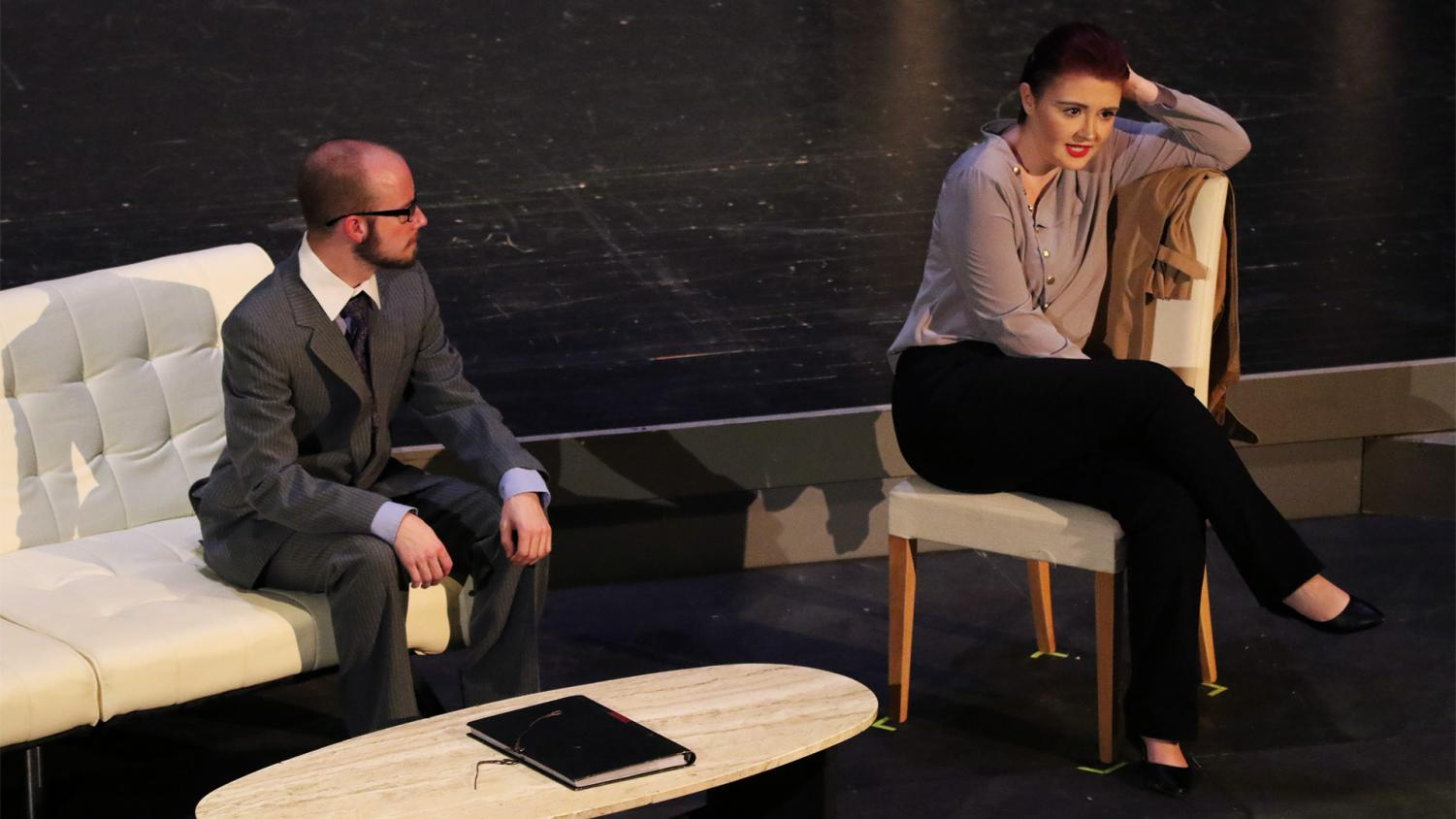 Sophomores Drew Cheek and Kenzie Kuhlmann star as Judge Brack and Hedda Gabler. The play will be performed 7:30 p.m. Nov. 7-9 and 2 p.m. on Nov. 11.